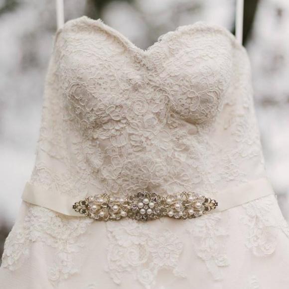 Dresses   Ivory Champagne Lace Wedding Bridal Dress   Poshmark